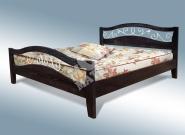 Фото Кровать с подъемным механизмом Хорт с ковкой из дуба
