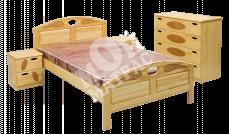 Фото Кровать с подъемным механизмом Галант (сосна)