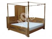 Фото Кровать с ортопедическим  основанием Неаполь с балдахином