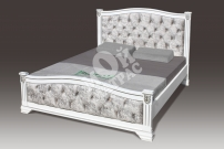 Фото Кровать Ницца со стразами из массива