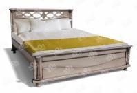 Фото Кровать Таранто из дуба с матрасом
